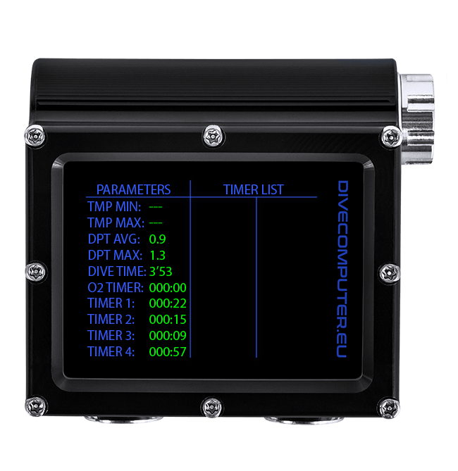 Dive computer - Rescue screen in Extended Gauge mode