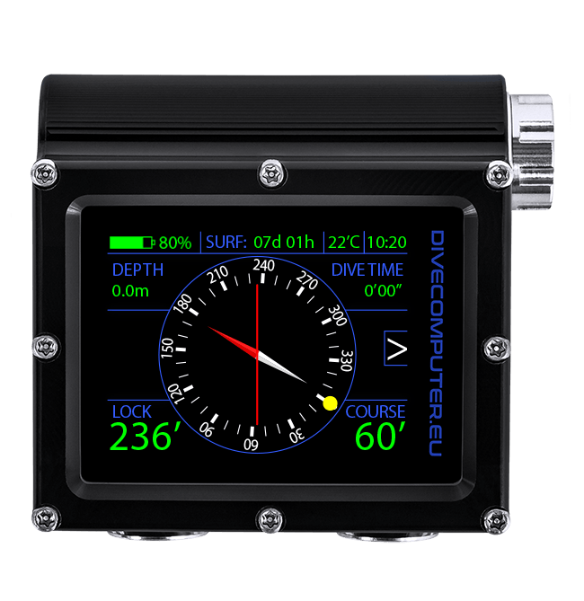 Dive computer - Surface compass in Extended Gauge mode