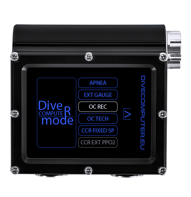 Dive computer - Mode select screen in OC REC mode