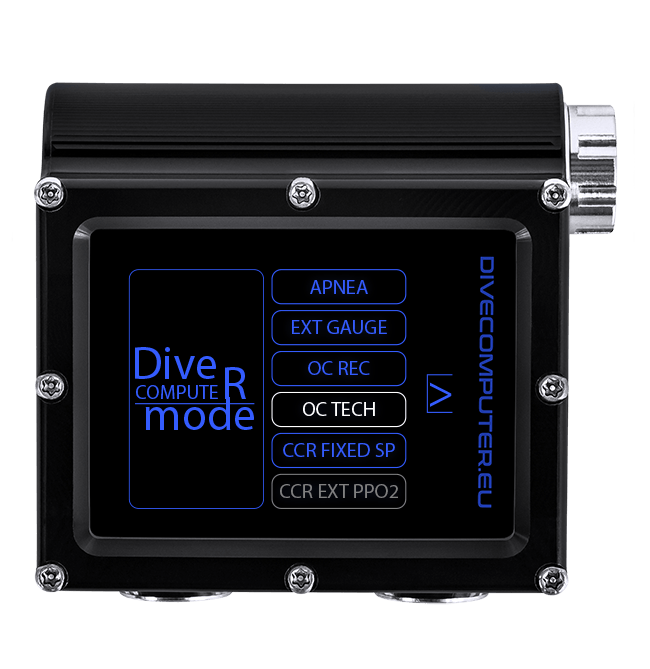 Dive computer - Mode select in OC TECH mode